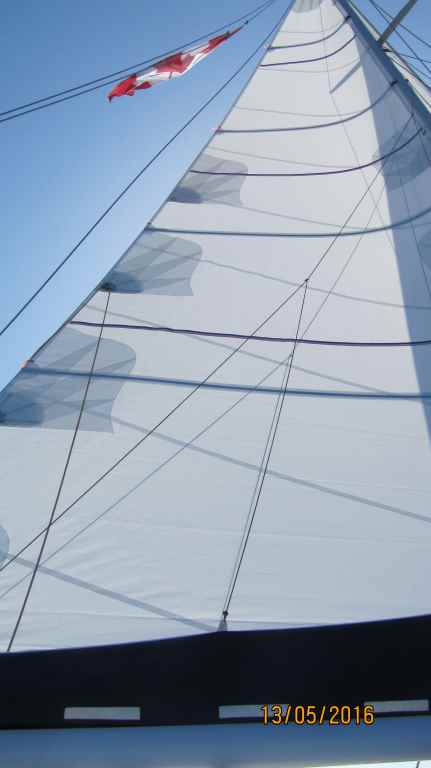 May 2016 new mainsail in action