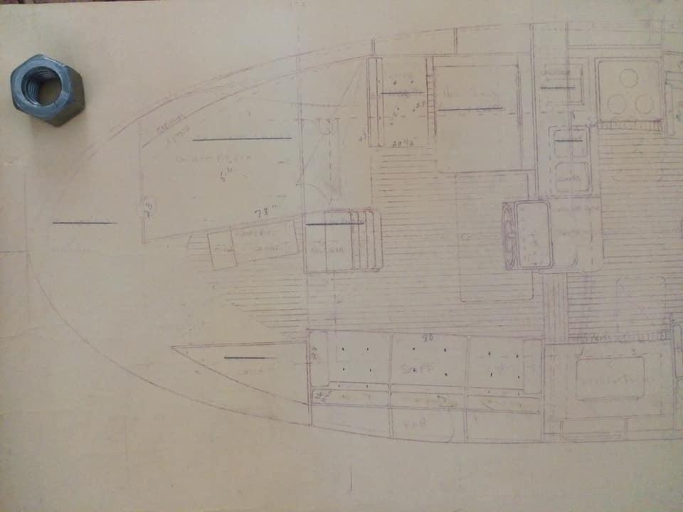 Corbin 39 - mk1 - PH-C - 1980 - plan interior stern
