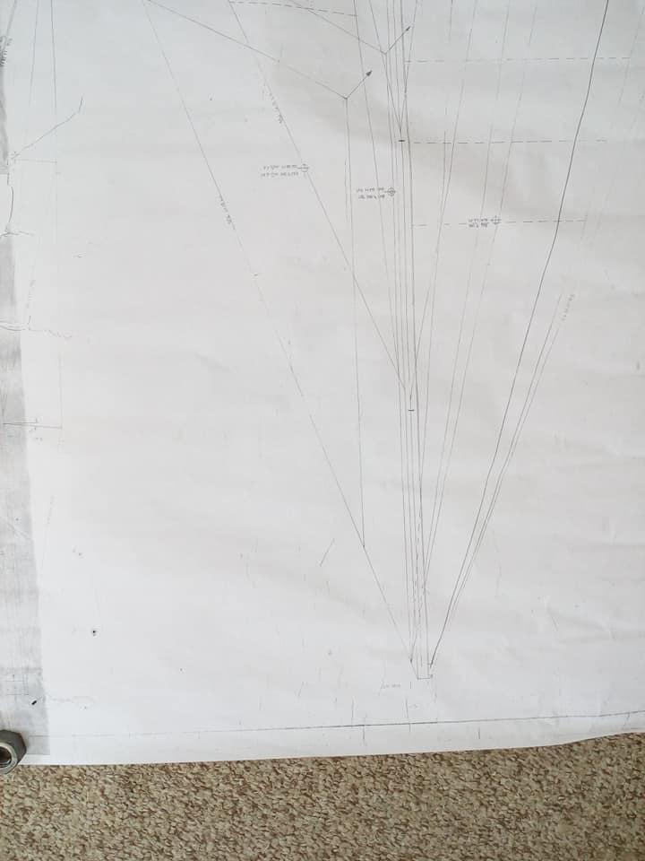 Corbin 39 - mk1 - PH-C - 1980 - upper sail dwg
