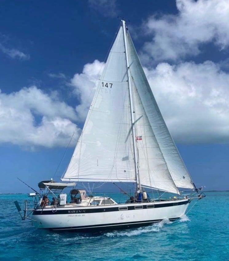 147 - Wawenoc - sailing beam